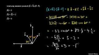 Skalarni produkt – naloga 5