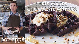 Chris Makes Chocolate Waffles   From the Test Kitchen   Bon Appétit