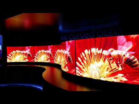 Panasonic 4K Curved OLED TVs - Part 2 (CES 2014)