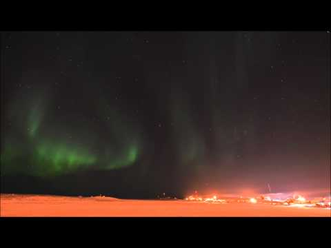 Tuktoyaktuk harbour March 20, 2014 - aurora borealis