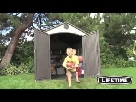 Lifetime Plastic Apex Roof Shed 8X10
