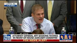 SESSIONS REFUSES SECOND SPECIAL COUNSEL After GOP Lawmaker Jordan Grills AG in House Hearing