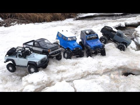 RC ADVENTURES - Scale 4x4 RC Trucks - Group Trail Crawl - PART 1 / Spring 2011