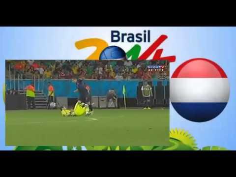 Increíble error de Iker Casillas España vs Holanda (1-5)