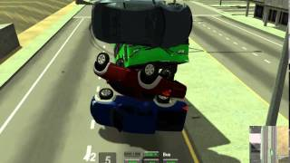 Edy's Vehicle Physics Live Demo Bus Vs 3 Vehicles EPIC