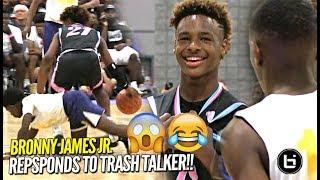 Bronny James Jr RESPONDS to TRASH TALKER at First Day of USBA Nationals!! Full Highlights