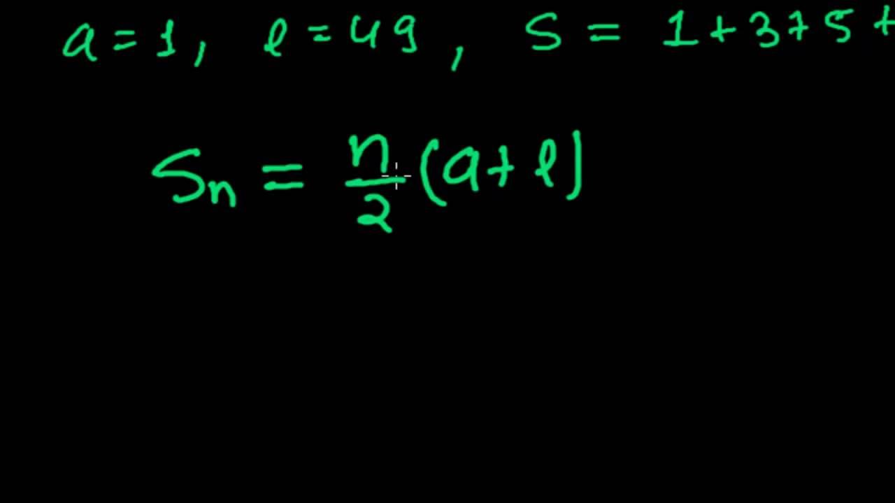 sum of odd series formula