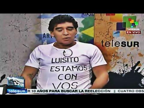 Maradona habla sobre la sanción a Luis Suarez