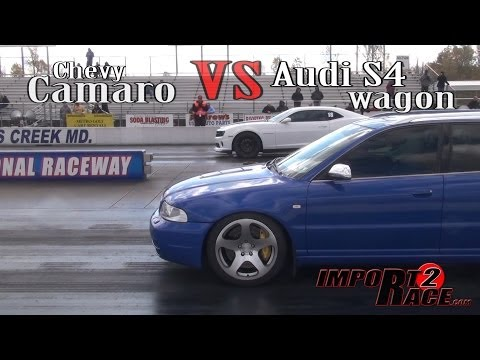 Chevy Camaro vs Audi S4 wagon