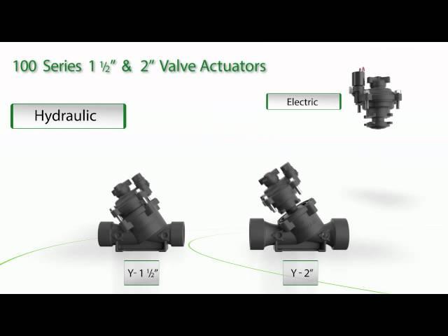 """Configurações da série 100 para 1½"""" e 2″"""