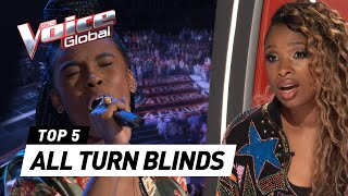 BEST ALL TURN Blind Auditions in The Voice [Part 4]
