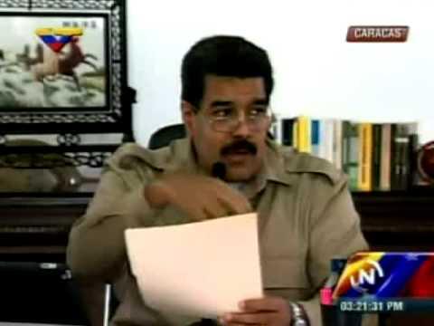 Maduro denuncia plan secesionista opositor