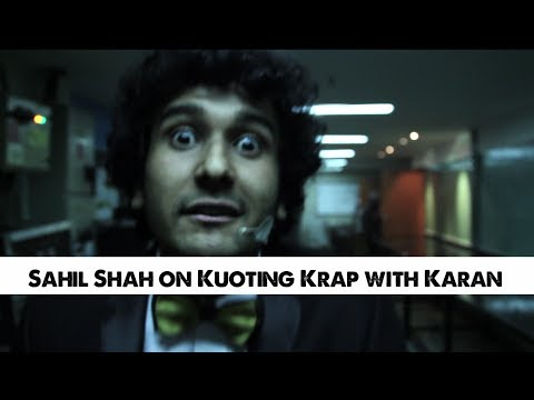 Sahil Shah On Koffee With Karan