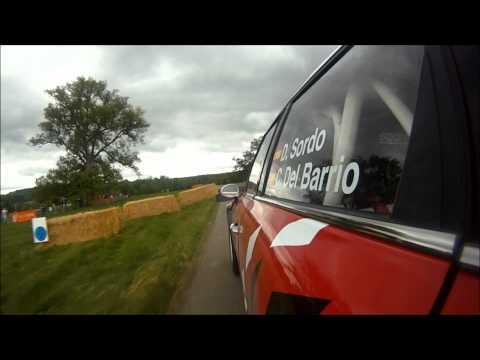 On board footage of Dani Sordo at The Rally Show, Cornbury Park.