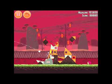 Angry Birds Seasons Year of the Dragon 1-8 Walkthrough 2012 3 Star