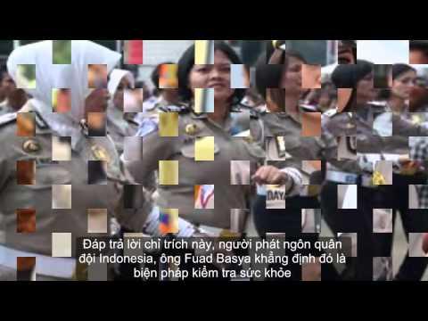 Quân đội Indonesia kiểm tra trinh tiết nữ tân binh