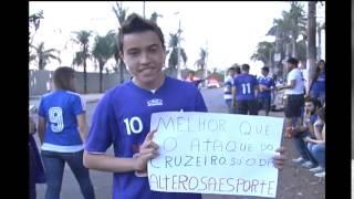Torcedores do Cruzeiro homenageiam Alterosa Esporte