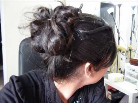 Hair styles - 5 min UPDO For Prom Homecoming or Farewell - Indian Updo HairStyle