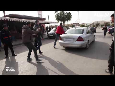 لحظة الافراج عن الشاب اللي ضرباتو طالبة جامعية بسيارتها في سلا وتسببت في وفاة قريبه