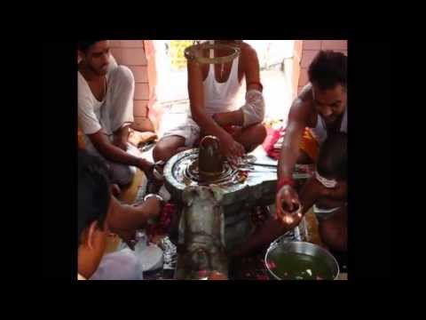 Shiva Lingam cleaning