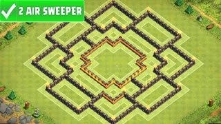 Th9 hybrid base for new update best town hall 9 farming trophy base