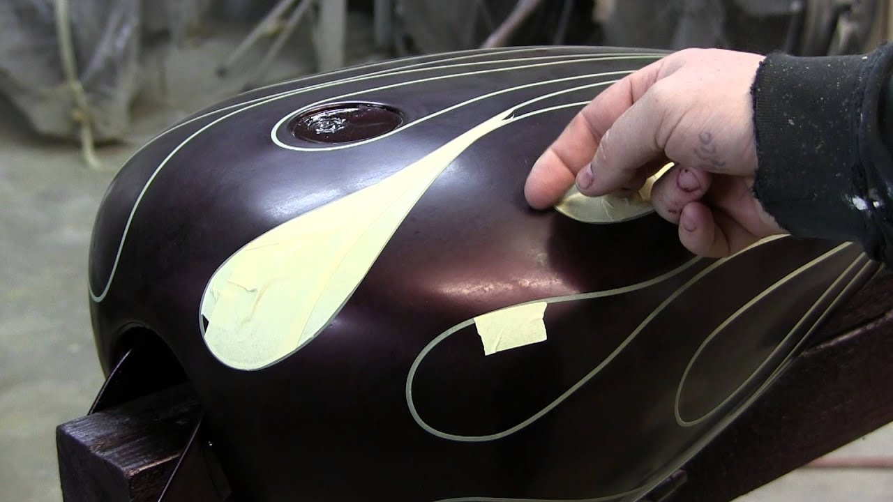 How To Airbrush Ghost Flames By James Scott Youtube