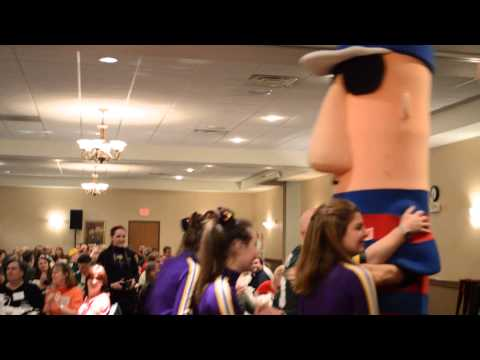 Milwaukee Brewers Racing Sausages at DeForest Area Chamber of Commerce Annual Dinner