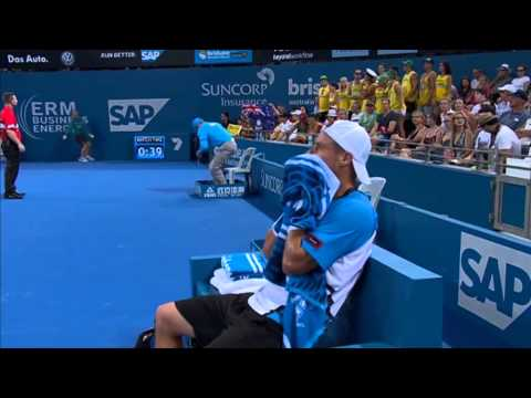 Feliciano Lopez v Lleyton Hewitt - Full Match Men's Singles Round 2: Brisbane International 2014