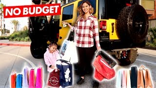 THE GIRLS DO THE NO BUDGET SHOPPING CHALLENGE!!!