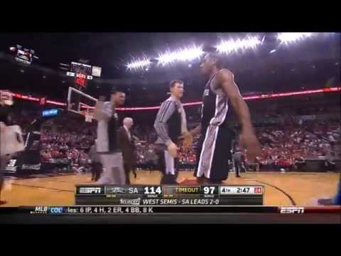 Kawhi Leonard Full Highlights Spurs vs Blazers Game 3 (5/10/2014) 16 Pts, 10 Reb - Project Spurs