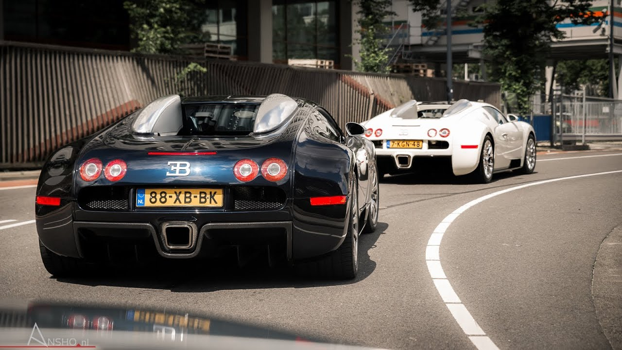 2x bugatti veyron w mansory exhaust having fun in rotterdam youtube. Black Bedroom Furniture Sets. Home Design Ideas