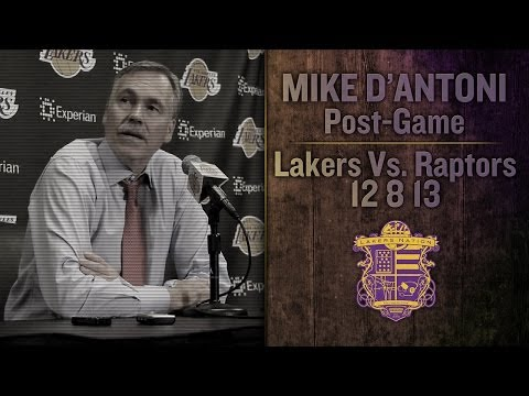 Lakers Vs Raptors: Mike D'Antoni On Kobe's Return, Pau Gasol's Struggles