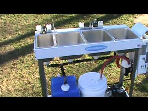 Large Portable Concession Sink Hand Washing Youtube