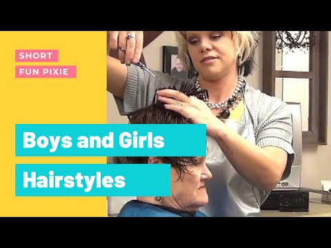 Short, Easy, Trendy Haircut for Ladies - Hairstyle Tutorial