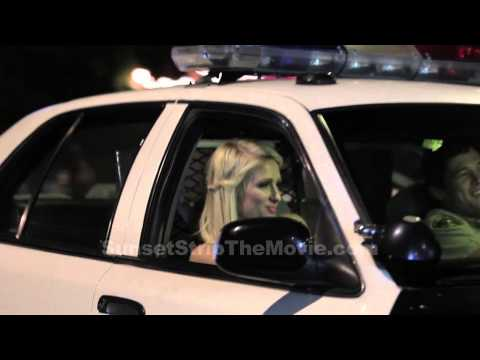 Paris Hilton Dances in a Cop Car on The Sunset Strip