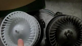 CHANGING A BLOWER MOTOR On A Dodge Grand Caravan 1996-2000