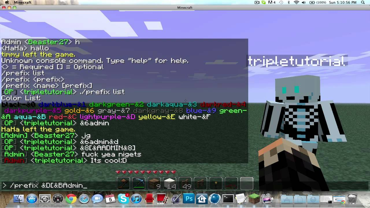 Minecraft Titles Plugin