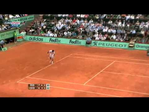 2011 Roland Garros - Semifinal - Djokovic vs. Federer 1:3 (Highlights)