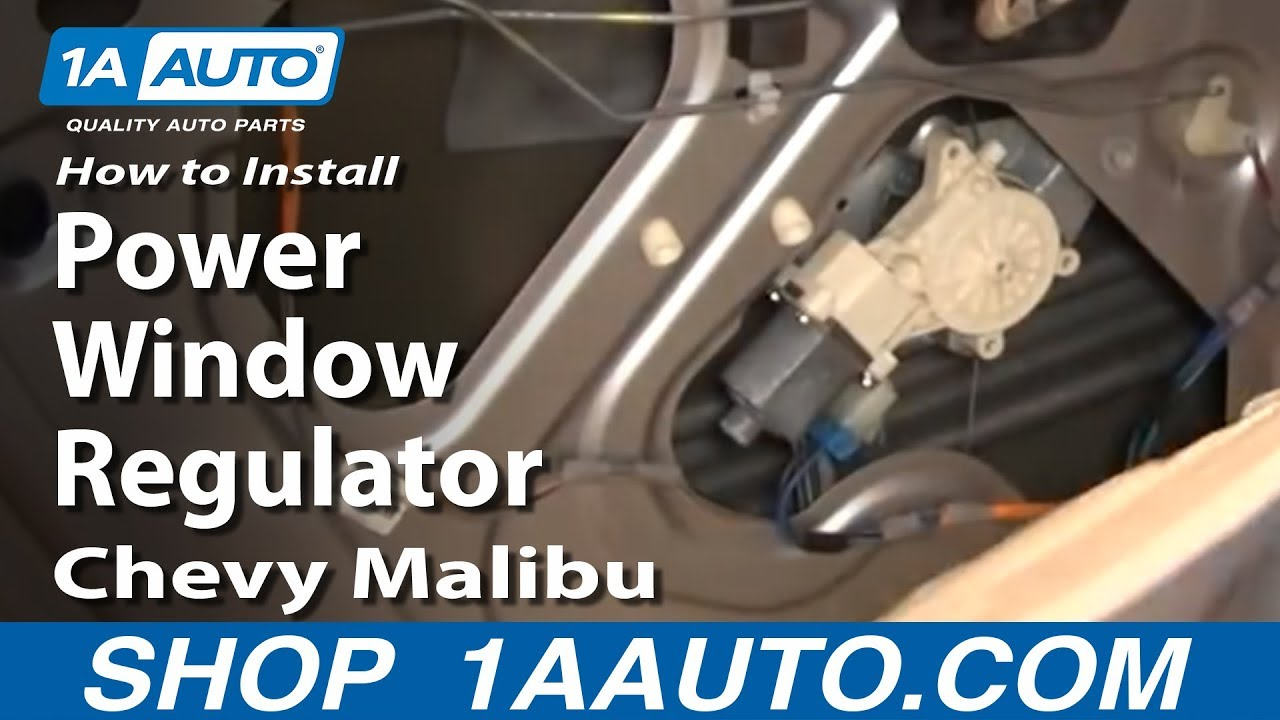 How To Install Replace Rear Power Window Regulator    Chevy    Malibu 0408 1AAuto  YouTube