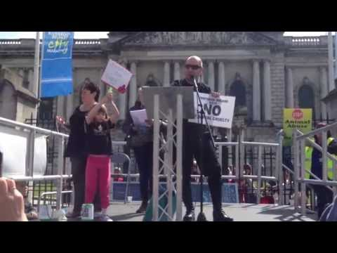 John Carmody Speaks at Animal Cruelty Rally in Northern Ireland
