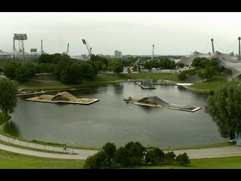 Building a floating freestyle motocross course - Red Bull X-Fighters Munich 2014