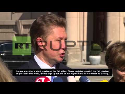 Germany: 'Germany is partner number one' - Gazprom's Miller