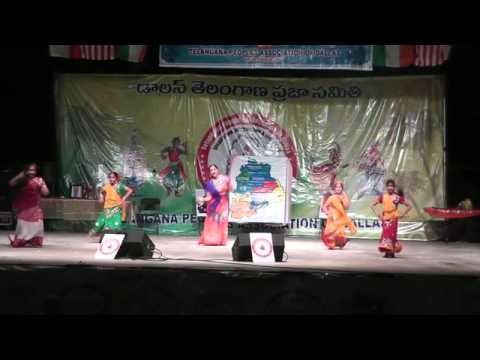 Raagalina Dance Academy Students perform to Kushi Holi Song at Telangana Dhoom Dham