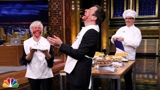Glenn Close Speed Eating Contest: Tonight Show with Jimmy Fallon