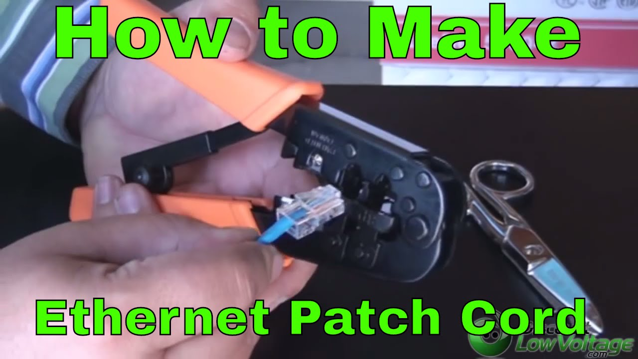 Rj45 How To Make An Ethernet 568b Patch Cable