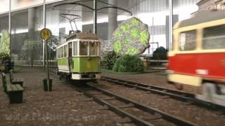 Modelleisenbahn der Straßenbahn in Dresden