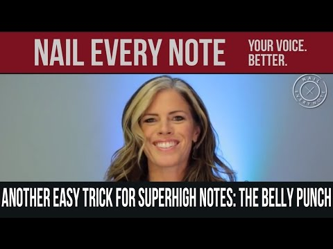 Another Easy Trick for Superhigh Notes:  the Belly Punch