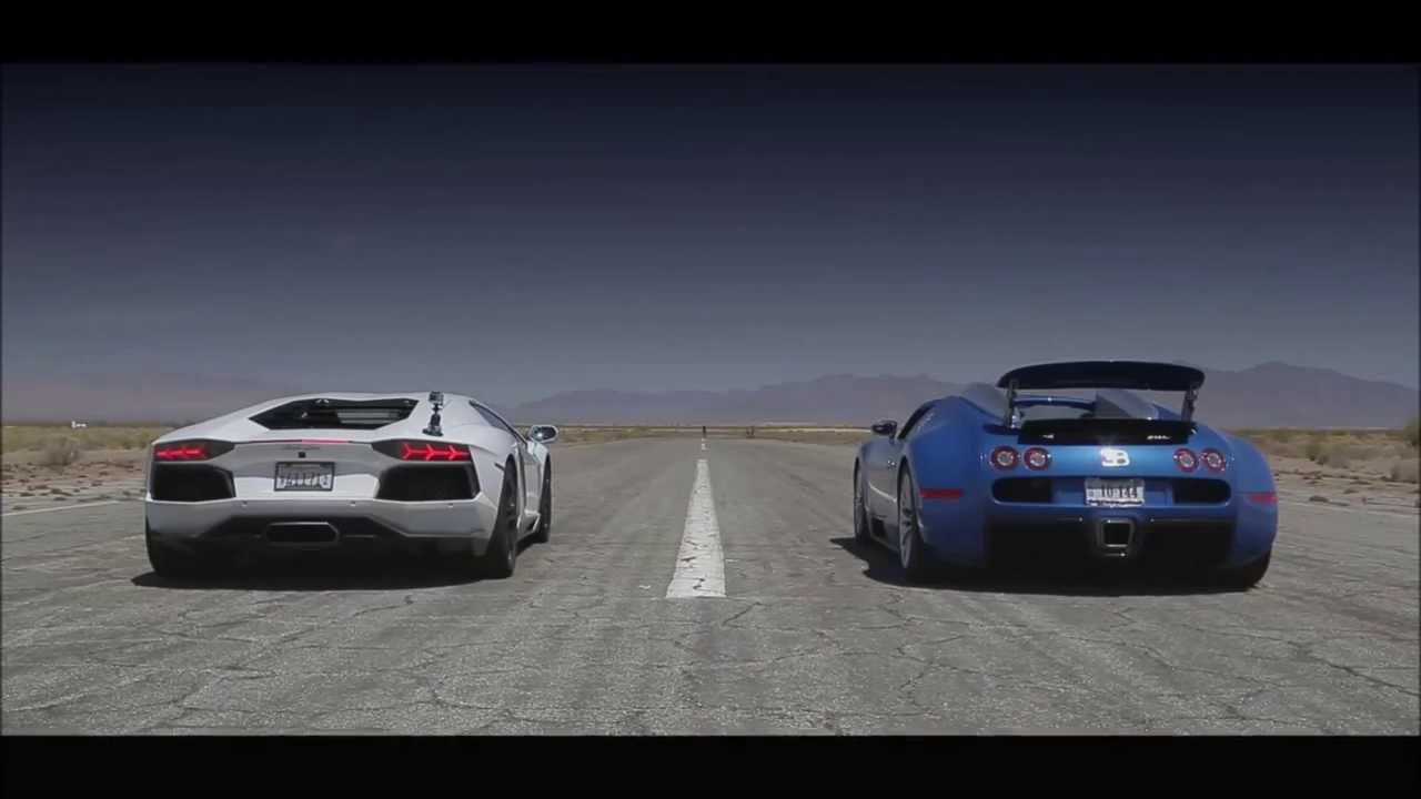 bugatti veyron vs lamborghini aventador race 2014 youtube. Black Bedroom Furniture Sets. Home Design Ideas