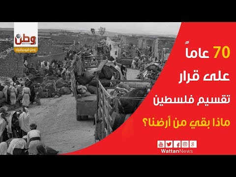 70 عاماً على قرار تقسيم فلسطين.. ماذا بقي من أرضنا ؟