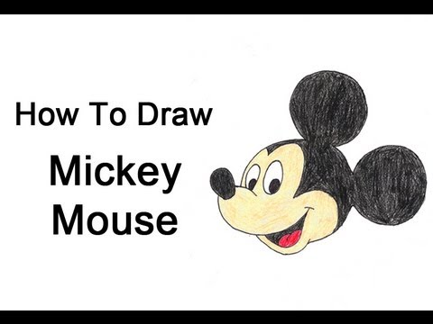 How to draw mickey mouse youtube for How do you draw a mouse